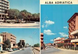 Cartolina Alba Adriatica 3 Vedute Paese Albergo - Teramo