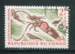 CONGO- Y&T N°144A- Oblitéré (poissons) - Congo - Brazzaville