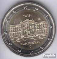 BRD (BR.Deutschland) 2019 J Stgl./unzirkuliert Auflage: 6 Mio. Stgl./unzirkuliert 2019 2 Euro 70 Jahre Bundesrat - Deutschland