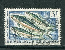 CONGO- Y&T N°145- Oblitéré (poissons) - Congo - Brazzaville