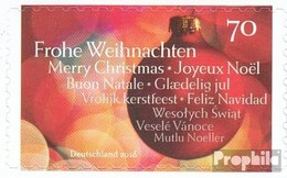 RFA (FR.Allemagne) 3270 (complète.Edition.) Selbstklebende Editionabe Neuf Avec Gomme Originale 2016 Weihnachtskugel - Nuovi
