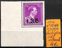 [831823]Belgique 1946 - N° 724AA, 1.35/1.50, Ghislenghien, Cdf, Familles Royales, Rois - Belgique