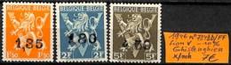 [831826]Belgique 1946 - N° 724DD/FF, Lion V -10% Ghislenghien, Lions - Belgique