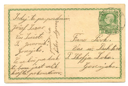 Austria Postal Stationery Postcard Travelled 191? Jesenice Fužine To Škofja Loka B190310 - Slovenia