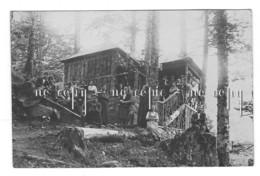 Carte-photo SCHIESSROTH - Refuge Des VOSGES TROTTERS COLMAR  - METZERAL - MUHLBACH Animée - Colmar