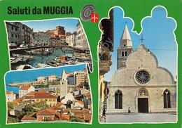 Cartolina Muggia 3 Vedute Paese (Trieste) - Trieste