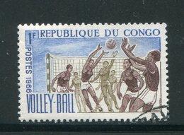 CONGO- Y&T N°190- Oblitéré (volley-ball) - Oblitérés
