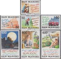 San Marino 1496-1502 (kompl.Ausg.) Postfrisch 1992 Tourismus - Unused Stamps