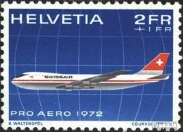 Suisse 968 (complète.édition) Oblitéré 1972 Pro Aero - Gebraucht