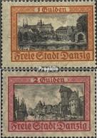 Danzig 212-213 (kompl.Ausg.) Gestempelt 1925 Freimarke - Danzig