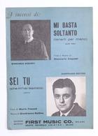 Musica Spartiti - Giancarlo Acquisti - Mi Basta Soltanto - Sei Tu - 1966 - Vecchi Documenti