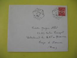 Lettre Air -  Cachet Agence Postale Reims  Air  1964  Marne    Franchise Militaire - France