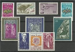 ANDORRA- OFERTA ESPECIAL  CORREO FRANCES ESTOS O SIMILARES AÑO 1972  COMPLETO ***  SIN FIJASELLOS  (S-5) - Nuevos