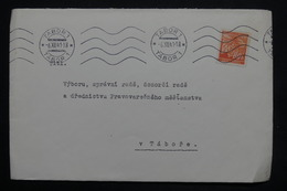 BOHÊME & MORAVIE - Enveloppe De Tabor  Pour Tabor En 1941, Affranchissement Plaisant - L 25021 - Lettres & Documents