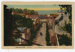 Belle Ile En Mer, Le Palais, Vue Générale Prise De La Porte Vauban ( Ed J. Nozais) - Belle Ile En Mer
