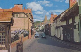 Postcard Porlock Somerset Porlock Post Office On The Right My Ref  B12876 - Other