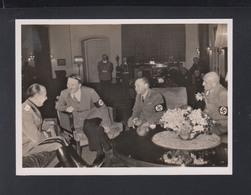 Dt. Reich AK Hitler Im Gespräch Mit Dem Italienischen Staatsminister Farinacci 1939 - Personnages Historiques