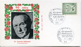 Allemagne 1965 - FDC, Documents, Europa-Cept - Europa-CEPT