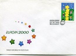 Poland Pologne, EUROPA CEPT, FDC 2000 - Europa-CEPT