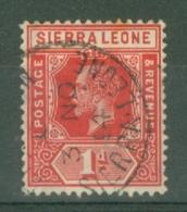 Sierra Leone: 1912/21   KGV     SG113     1d   Carmine-red   Used - Sierra Leone (...-1960)
