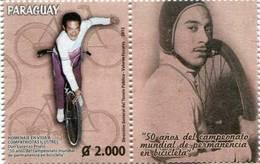 Lote PY20, Paraguay, 2015, Sello, Stamp, 50 Años Del Campeonato Mundial De Permanencia En Bicicleta, Bicycle, Bike - Paraguay
