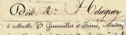 1829 FORGES DE CLAVIERES Ardentes (Indre) Grenouillet Pour Holoagray Frères Archands De Fer à Bordeaux V.HISTORIQUE - Manuscrits