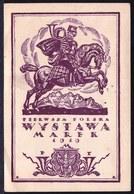 RARE ! CPA POLAND - POLOGNE - * REGISTERED POSTAL CARD - PIERWSZA POLSKA WYSTAWA MAREK 1919 - 2 Scans ! - 1919-1939 République