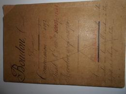 Livret Douanier De Cette Herault Séte 1897 Fusil 1886 Revolver 1874 Douane District Montpellier - 1914-18