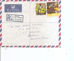 Zambie ( Lettre Recommandée De 1974 De Ndola Vers Jersey à Voir) - Zambia (1965-...)