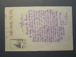 ISRAEL PALESTINE HOTEL EDEN JERUSALEM 1941 PAPER STATIONERY LETTER LOGO DESIGN ORIGINAL PHOTO - Manuscripts