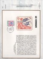 1983.7 FEUILLET CEF   CIRQUE  NOUVEAU STADE LOUIS II    N°  YVERT ET TELLIER  1565/6..1397 - Sonstige