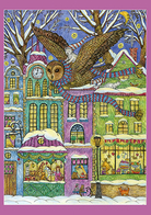 2019-084 Russia Postal Card Without Stamp: Flying Owl And Cat. BIRDS. CATS - Rusia