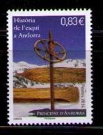 ANDORRA FRANCESA 2014 - HISTORIA DEL SKI EN ANDORRA  - 1 SELLO - Andorra Francesa
