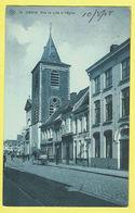* Menen - Menin * (SBP, Nr 13) Rue De Lille Et église, Rijselstraat, Belle Animation, Char, Café, Au Caoutchouc, Kerk - Menen