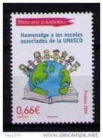 ANDORRA FRANCESA 2014 - ESCUELAS ASOCIADAS A LA UNESCO  - 1 SELLO - French Andorra