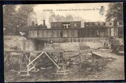 Frankrijk France - Conde - L Escaut Et Pont Du Chemin De Fev - Trein Train - 1923 - Non Classés