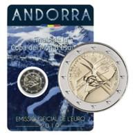 Andorra 2019    2 Euro Commemo In Coincard   WK Skiën - Championnat Du Monde Du Ski !! Leverbaar - Livrable !! - Andorre