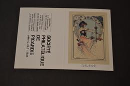 Mini Calendrier 1984 Signe Zodiaque Balance Mucha Société Philatélique De Picardie - Calendriers