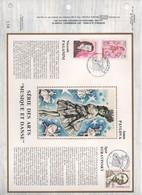 1981.77 FEUILLET CEF  CELEBRITES  PAGANINI  STRAVINSKY LINDBERGH   N°  YVERT ET TELLIER  1344/9.1096 - Other