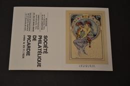 Mini Calendrier 1984 Signe Zodiaque Gémeaux Mucha Société Philatélique De Picardie - Calendriers