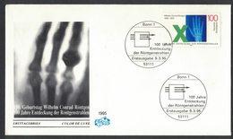 YN196    Germany FDC 1995  Röntgen - 100 Jahre Entdeckung Der Röntgenstrahlen - [7] Federal Republic