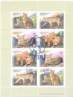 2018. Tajikistan, WWF, Red Cat, Sheetlet With Blue OP, Mint/** - Tadschikistan