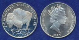 Cook-Islands 50 Dollar 1990 Bison Ag925 19,7g - Cook