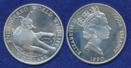 Cook-Islands 50 Dollar 1990 Wüstenluchs Ag92519,6g - Cook