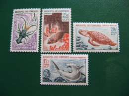 COMORES YVERT POSTE ORDINAIRE N° 35/38 TIMBRES NEUFS** LUXE COTE 17,50 EUROS - Unused Stamps