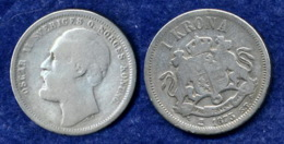 Norwegen 1 Krone 1875 Oskar II. Ag800 - Norvège
