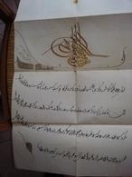 FIRMAN OTTOMAN Medjidié De Turquie 1857 Pour Guiastrennec Né à Landerneau ( Expédition Crimée ) Diplôme Ordres étrangers - Documents