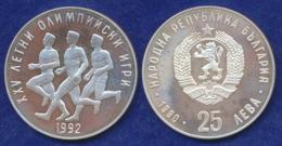 Bulgarien 25 Lewa 1990 Läufer Ag925 23,3g - Bulgarie
