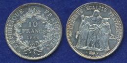 Frankreich 10 Franc 1966 Herkules Ag900 25g - Frankreich