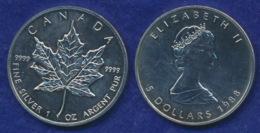 Kanada 5 Dollar 1988 Elisabeth II. Ag999 31,4g - Canada